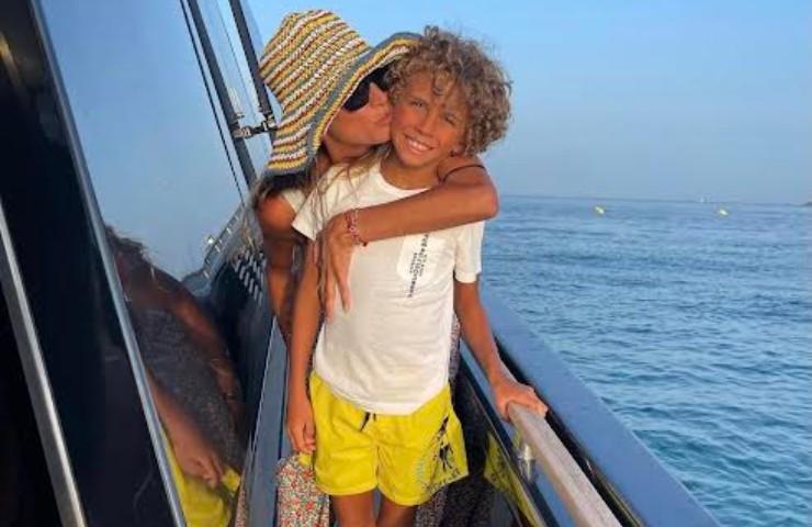 Melissa Satta e figlio