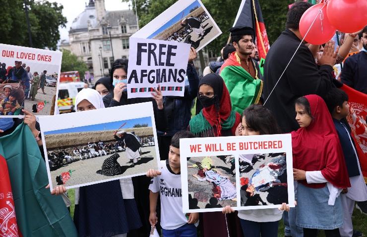 Proteste di donne afghane