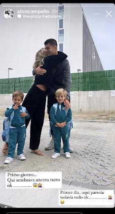 Alice Campello e famiglia