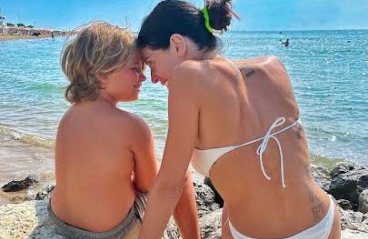 Alice Basso e figlio