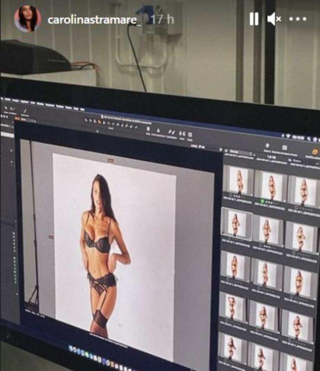 Carolina Stramare shooting in intimo bollente foto