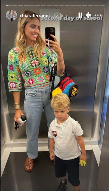 Chiara Ferragni e suo figlio Leone