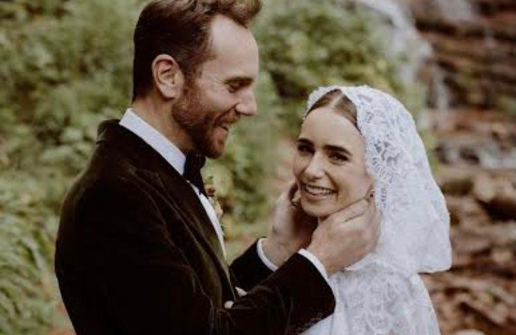 Lily Collins e marito