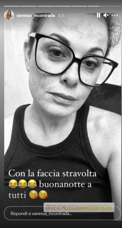 Vanessa Incontrada stanca prove tecniche generali spettacolo Verona foto