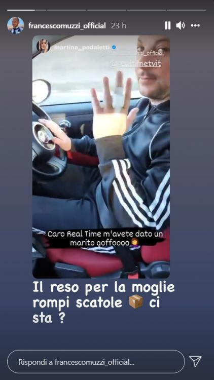 Martina Pedaletti appello social Real Time chiede cambio video