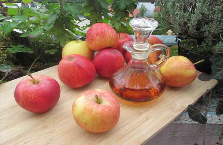 creare maschera con aceto mele